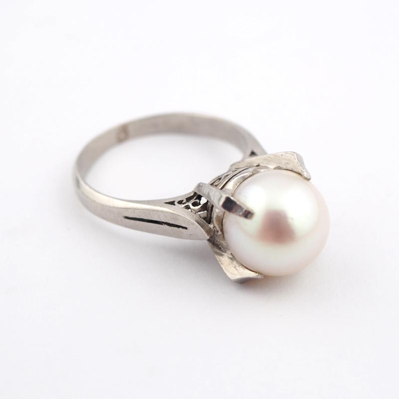 静岡きたがわ宝石のジュエリー修理 プラチナと真珠の指輪