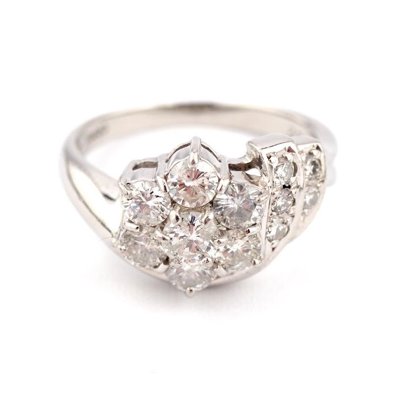 静岡きたがわ宝石のジュエリー修理 大ぶり指輪のサイズ直し