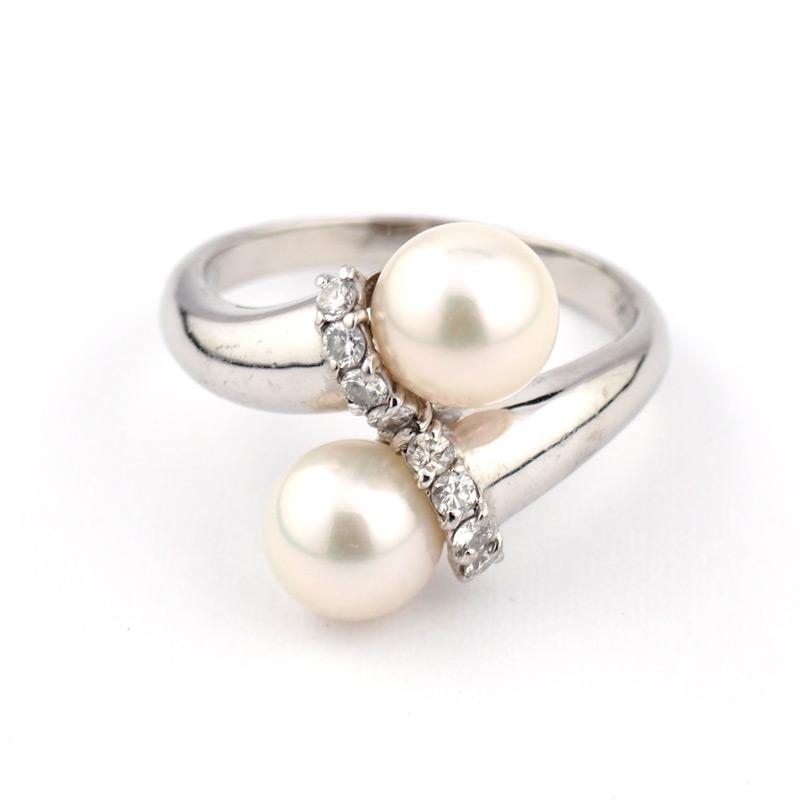 静岡きたがわ宝石のジュエリー修理 真珠の指輪のサイズ直し