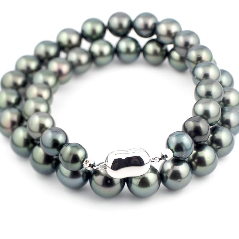 静岡きたがわ宝石のジュエリー修理 黒真珠ネックレスの糸換え
