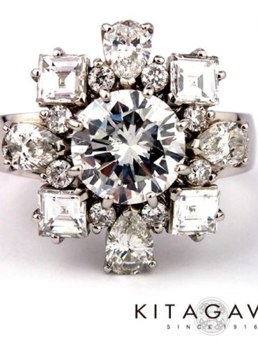 静岡きたがわ宝石の大粒ダイヤモンドの指輪