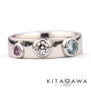 静岡きたがわ宝石のカラーダイヤモンドの指輪