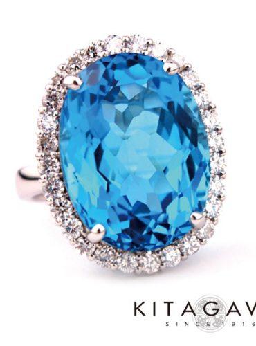 静岡きたがわ宝石のブルートパーズの指輪