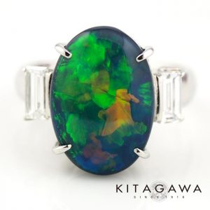 静岡きたがわ宝石のオパールの指輪