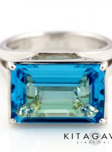 静岡きたがわ宝石のブルートパーズとシトリンの指輪