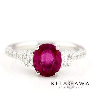 静岡きたがわ宝石のルビーとダイヤモンドの指輪