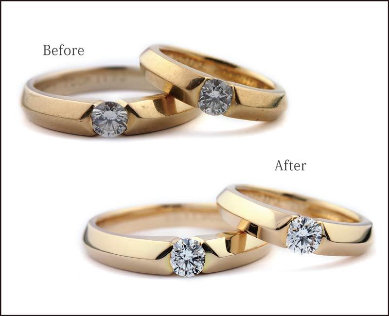 結婚指輪と婚約指輪の新品仕上げ