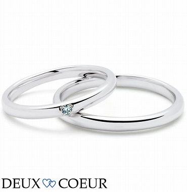 ブルーダイヤモンドのマリッジリング(結婚指輪)【静岡KITAGAWA Bridal】