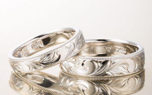 ハワイアンジュエリー結婚指輪のアレンジ