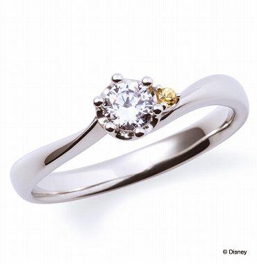 ディズニープリンセスの婚約指輪ベル