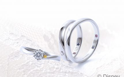 ディズニープリンセスの結婚指輪と婚約指輪