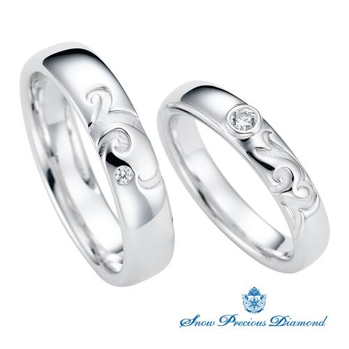 スノープレシャスダイヤモンドの結婚指輪