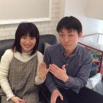 婚約指輪と結婚指輪ご成約のお客様 かおり様ご夫妻 静岡県