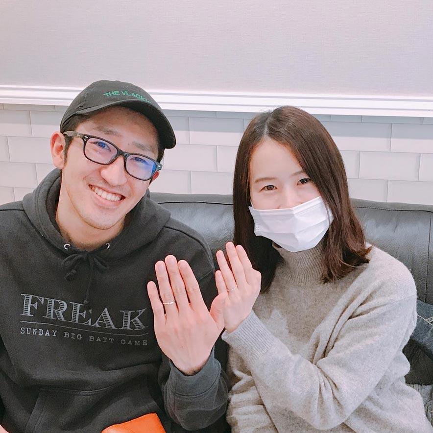 結婚指輪ご成約のお客様 河合様ご夫妻 静岡県焼津市