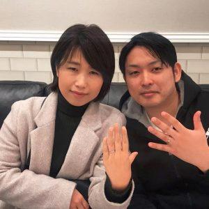 結婚指輪ご成約のお客様 キャプテン山本様ご夫妻 静岡県清水区