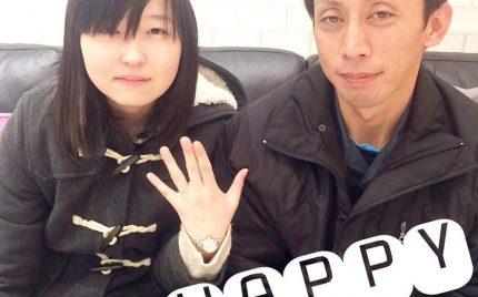婚約指輪ご成約のお客様 富士市のりん様ご夫妻