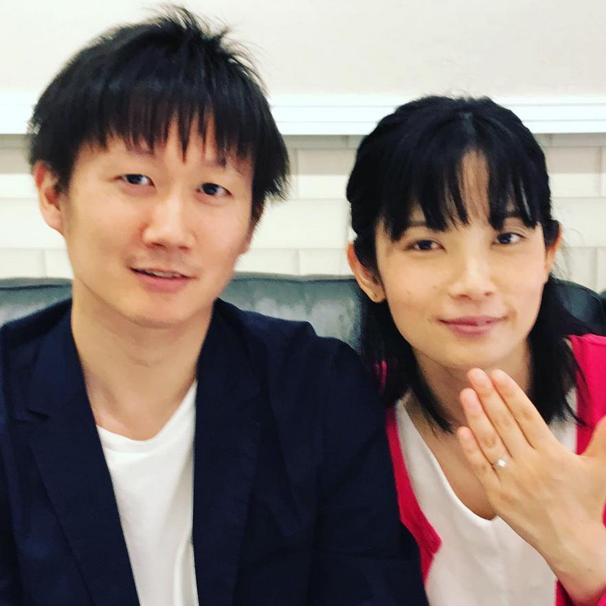 結婚指輪ご成約のお客様 静岡県磐田市のM&E様ご夫妻