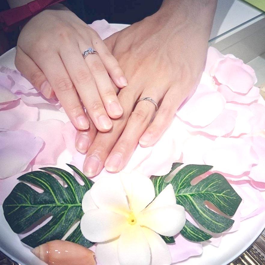 結婚指輪ご成約のお客様 Tatsuma.Saki様ご夫妻