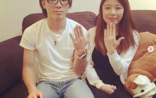 結婚指輪ご成約のお客様 静岡県のりょう・もこ様ご夫妻