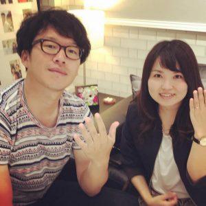 結婚指輪ご成約のお客様 静岡市清水区のS&Y様ご夫妻