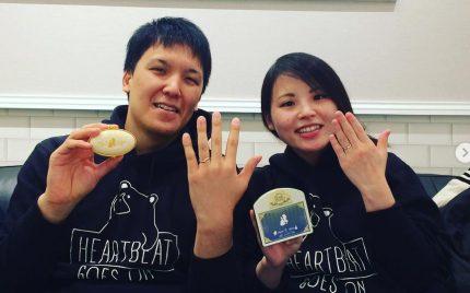 結婚指輪ご成約のお客様 浜松市のR&Y様ご夫妻