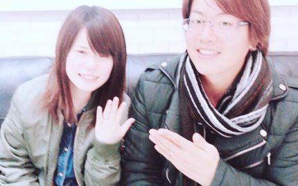 結婚指輪ご成約のお客様 静岡市のI様ご夫妻