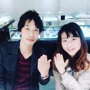 結婚指輪ご成約のお客様 富士市のJ&H様ご夫妻