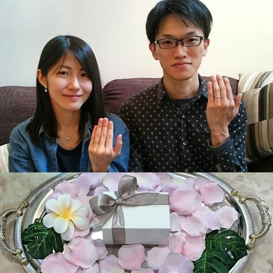 結婚指輪ご成約のお客様 静岡市のこと様ご夫妻