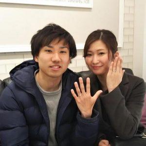 結婚指輪ご成約のお客様 静岡県のゆう&あやめ様ご夫妻