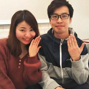 結婚指輪ご成約のお客様 静岡県の梅原様ご夫妻