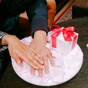 結婚指輪ご成約のお客様 静岡市葵区のS&C様ご夫妻