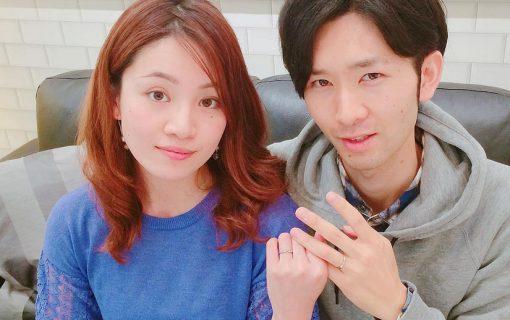 結婚指輪ご成約のお客様 静岡県のタカヒロ&メグミ様ご夫妻