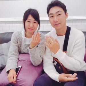 結婚指輪ご成約のお客様 あっちゃん&とも様ご夫妻 静岡県焼津市