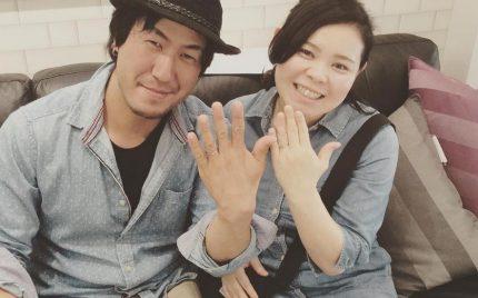 結婚指輪ご成約のお客様 静岡県