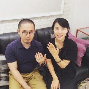 結婚指輪ご成約のお客様 M&K様ご夫妻 静岡県