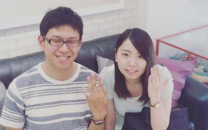 結婚指輪ご成約のお客様 寶屋敷様ご夫妻 静岡県