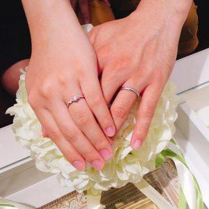 結婚指輪ご成約のお客様 イワモトズ様ご夫妻 静岡県藤枝市