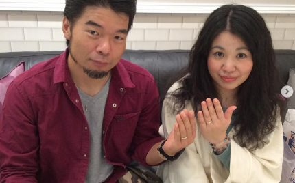 結婚指輪ご成約のお客様 松下&ナオ様ご夫妻 静岡県