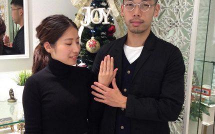 結婚指輪ご成約のお客様 佐野様ご夫妻 静岡県