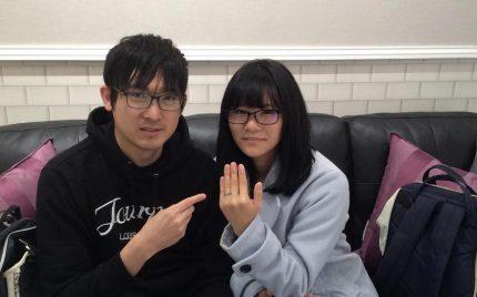 結婚指輪ご成約のお客様 kaho様ご夫妻 静岡県