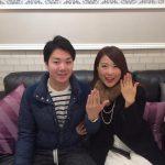 結婚指輪ご成約のお客様 A&T様ご夫妻 静岡県