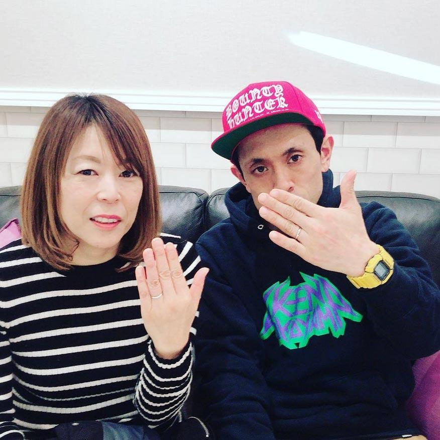 結婚指輪ご成約のお客様 横山様ご夫妻 静岡県焼津市