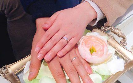 結婚指輪ご成約のお客様 コロのパパ様ご夫妻 静岡県藤枝市