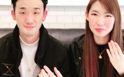結婚指輪ご成約のお客様 柏木様ご夫妻 静岡県富士市