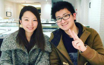 結婚指輪ご成約のお客様 静岡県の赤平様ご夫妻