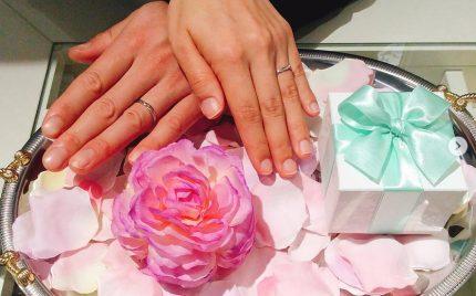 結婚指輪ご成約のお客様 N&S様ご夫妻 静岡県