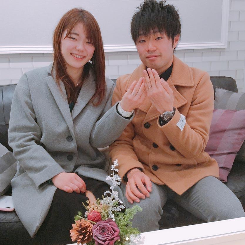 結婚指輪ご成約のお客様 さー様ご夫妻 静岡県