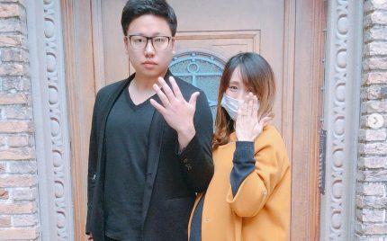 結婚指輪ご成約のお客様 たくや&ちさき様ご夫妻 静岡県