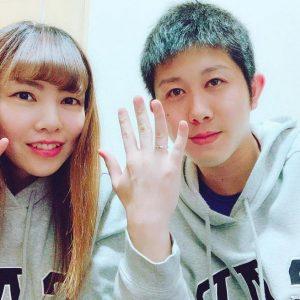 結婚指輪ご成約のお客様 ポイフル様ご夫妻 静岡県島田市