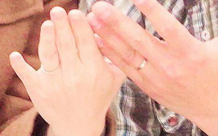 結婚指輪ご成約のお客様 クニ&ミナ様ご夫妻 静岡県
